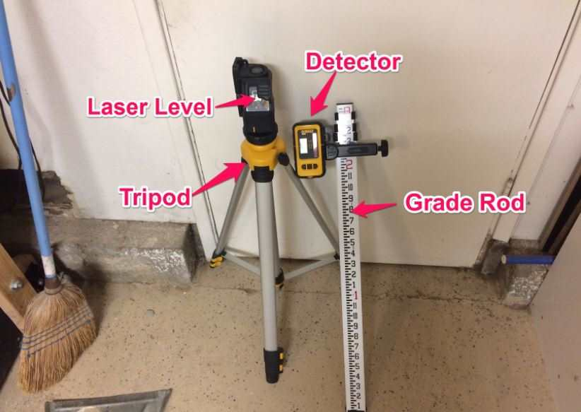 grading with laser level